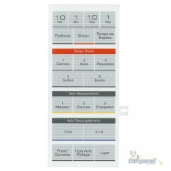 Membrana Microondas Panasonic NN7809 Branco